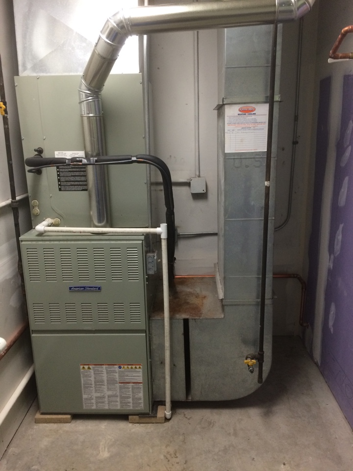 Channahon, IL - Commercial American Standard furnace reinstallation.