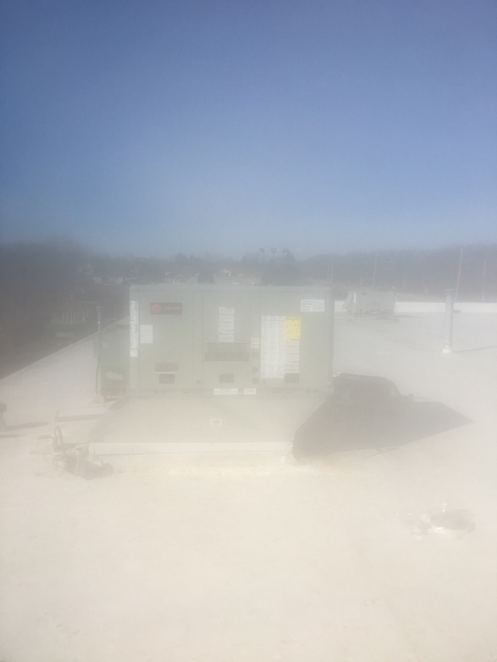 Crete, IL - Setting rooftop units in Steger