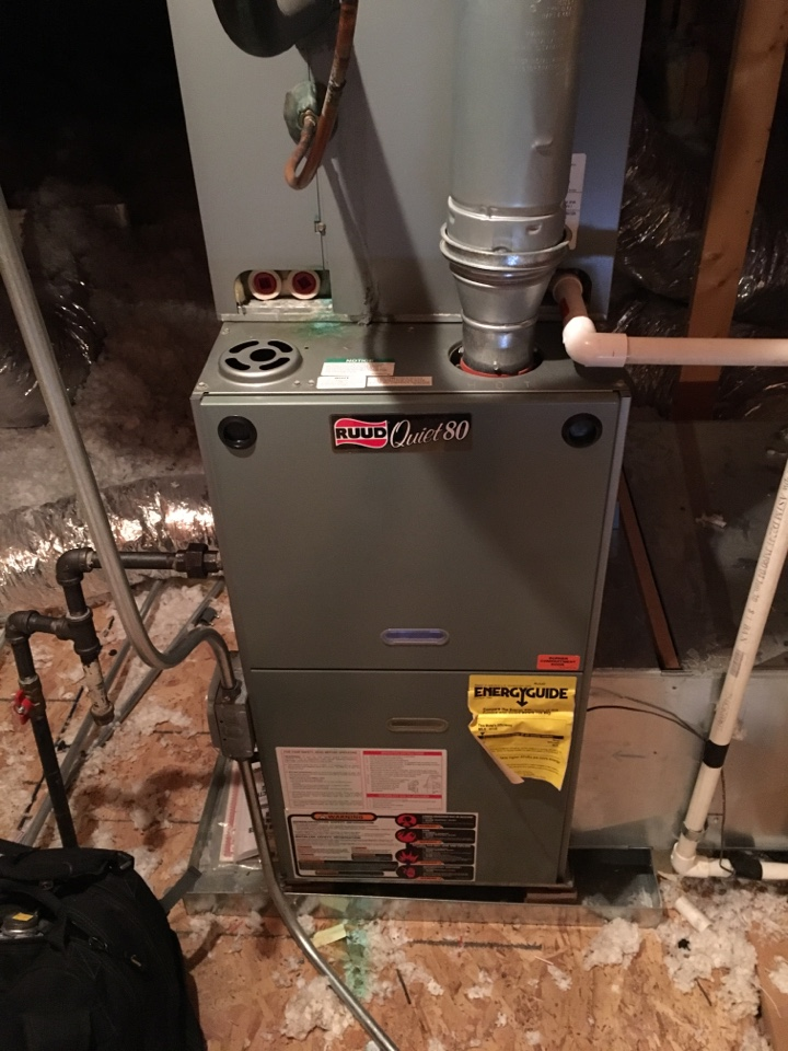 Country Club Hills, IL - Replaced gas valve on Ruud furnace