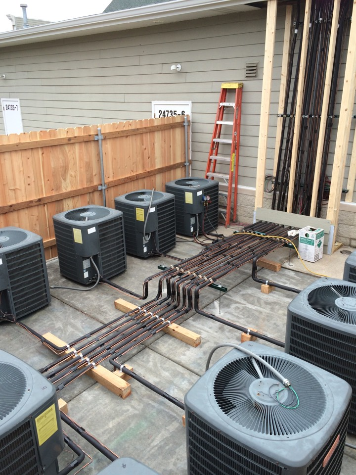 Channahon, IL - Commercial a/c relocated and ran new copper linesets.