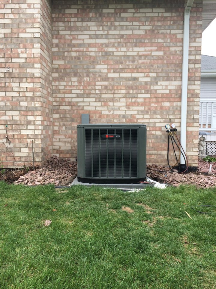 Orland Park, IL - Residential Trane furnace and ac install.