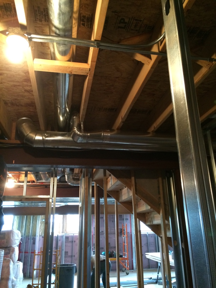 Plainfield, IL - Supply and return ductwork addition.
