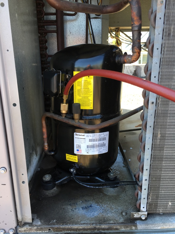 Steger, IL - Replaced a compressor on a Carrier rooftop unit in Steger at Grand Prairie Services