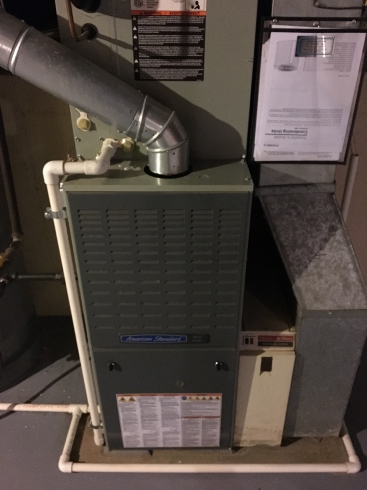 Orland Park, IL - American Standard Furnace repair. Replaced the gas valve on the the furnace.