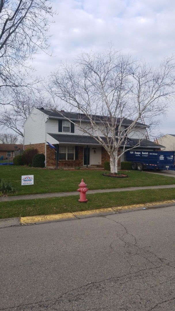 Dayton, OH - Another day another roof replacement. Today we are in Huber Heights.