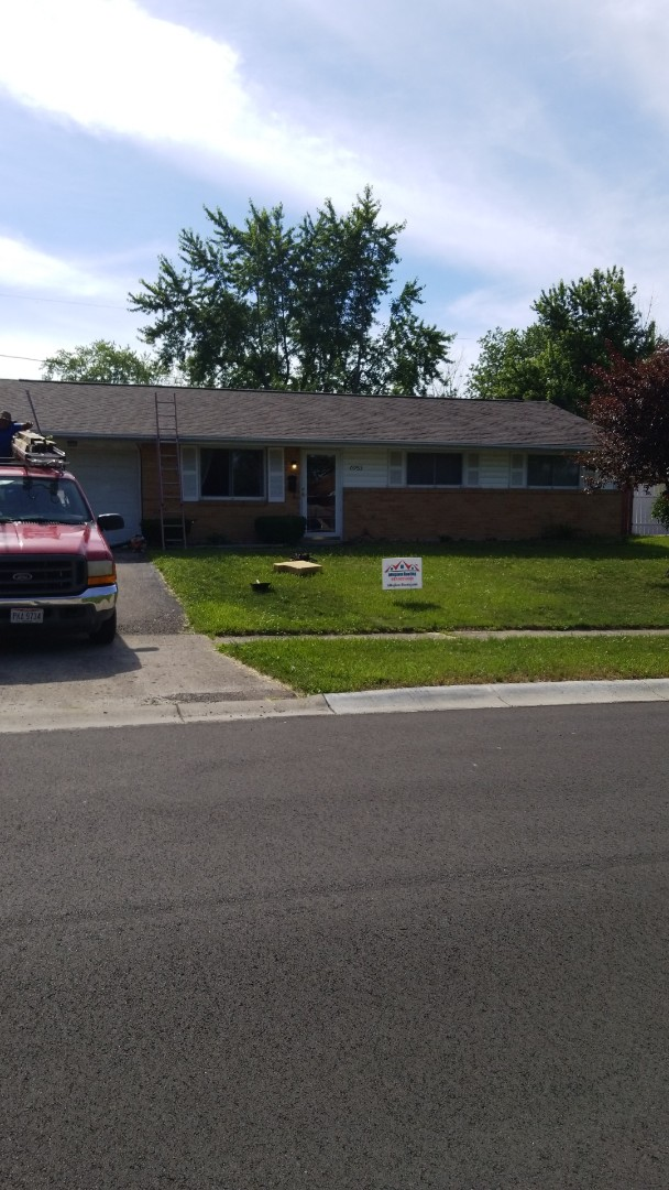 Dayton, OH - Just finished another roof in Huber Heights! This shingle is a GAF Timberline HD Barkwood!