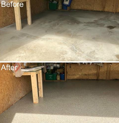 Horseshoe Bend, ID - New year's resolution to get that garage presentable! Start with transforming that floor with Epoxy Flake!