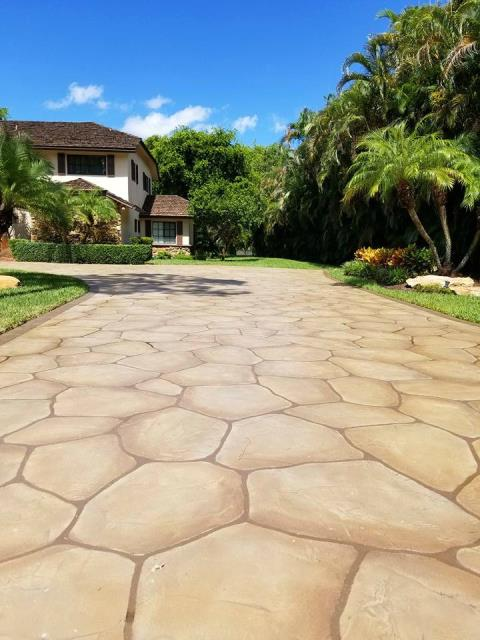 Nampa, ID - Transform and repair your concrete driveway with the Grand Flagstone system!