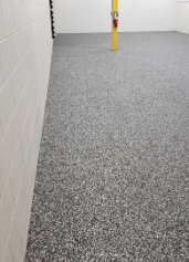 McCall, ID - A complete 180 Xtreme Epoxy was able to perform!! We had Jeremy and his team come out and remodel our concrete surfaces in the building. With the constant traffic, our floors see daily, they tend to become worn and dirty very fast. We decided to go with a GRANIFLEX flake coat to help prevent water damages, slip accidents, chemical spill damages to the floor!! This system has also helped to reduce the maintenance and cleaning of the floor!! Highly recommend Xtreme Epoxy for your industrial and commercial concrete flooring needs!
