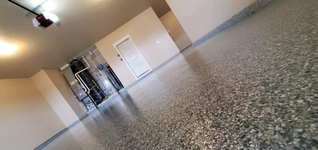 Middleton, ID - The Xtreme Epoxy Idaho team did a fantastic job transforming my garage! They designed the concrete floor with a GRANIFLEX flake coat. I am beyond satisfied with their results! Jeremy is very creative, easy to work with, and professional! I would recommend Xtreme Epoxy Idaho to anyone!!