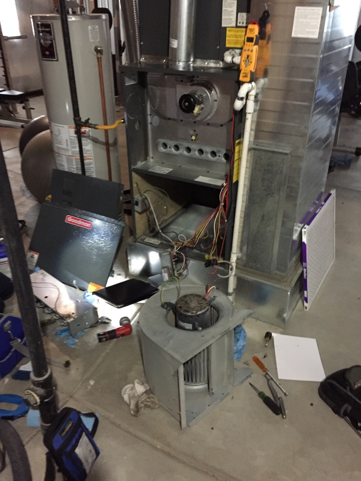 Lone Tree, CO - Goodman furnace not heating in Stonegate. Performed Supertune maintenance and replace failed igniter.