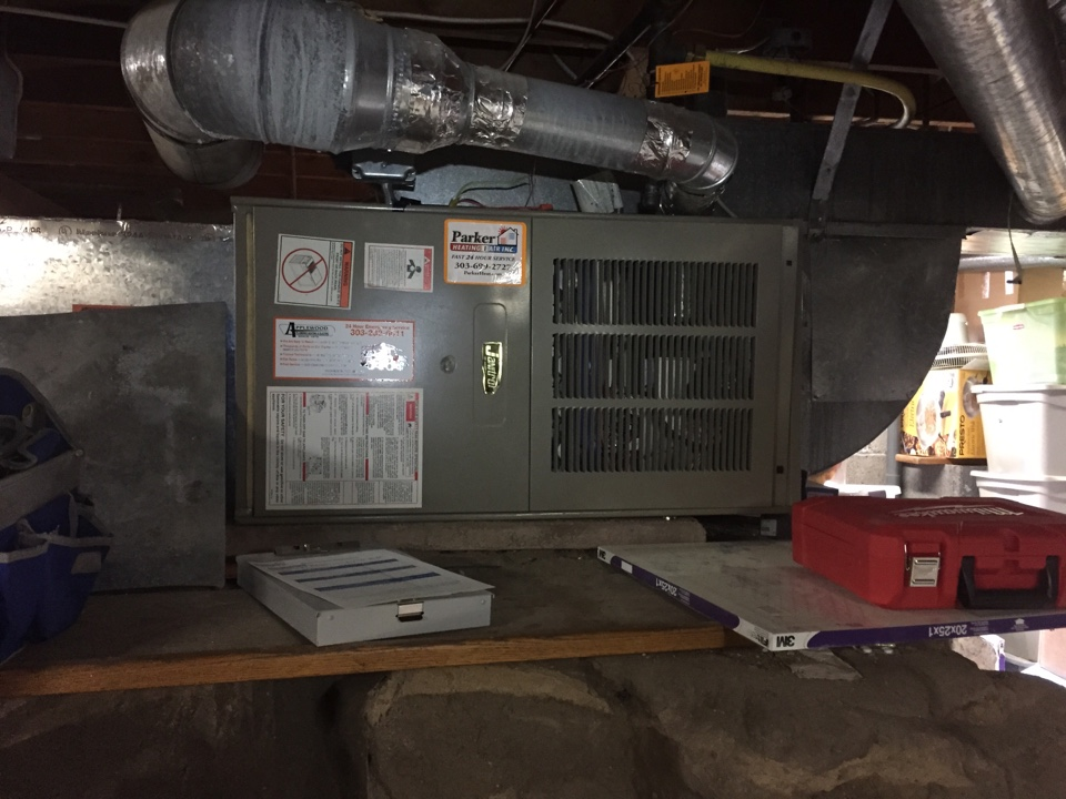 Castle Rock, CO - Blower won't shut off. Recommend replacement for an 18 year old furnace