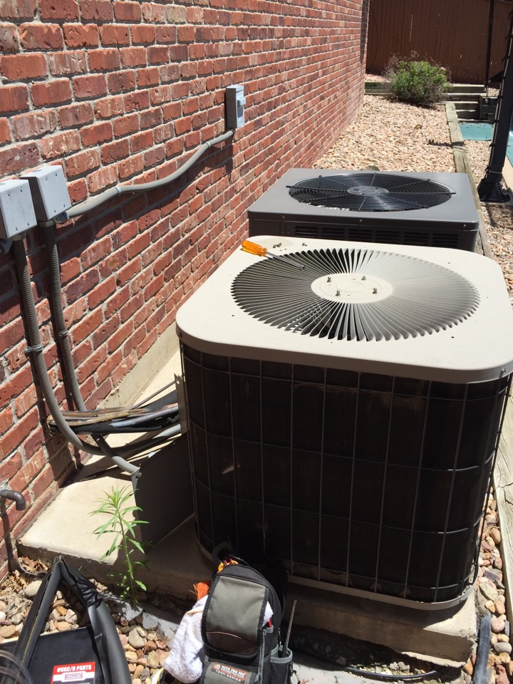 Centennial, CO - Centennial area; repair to older AC, the wear and tear parts were worn and torn. Got it going again with some Parker Heating skill!! Call today.
