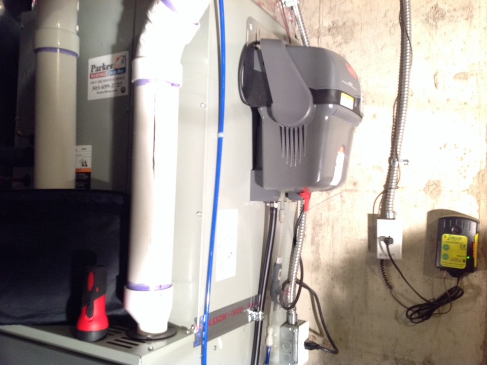 Franktown, CO - Repairing humidifier water leak