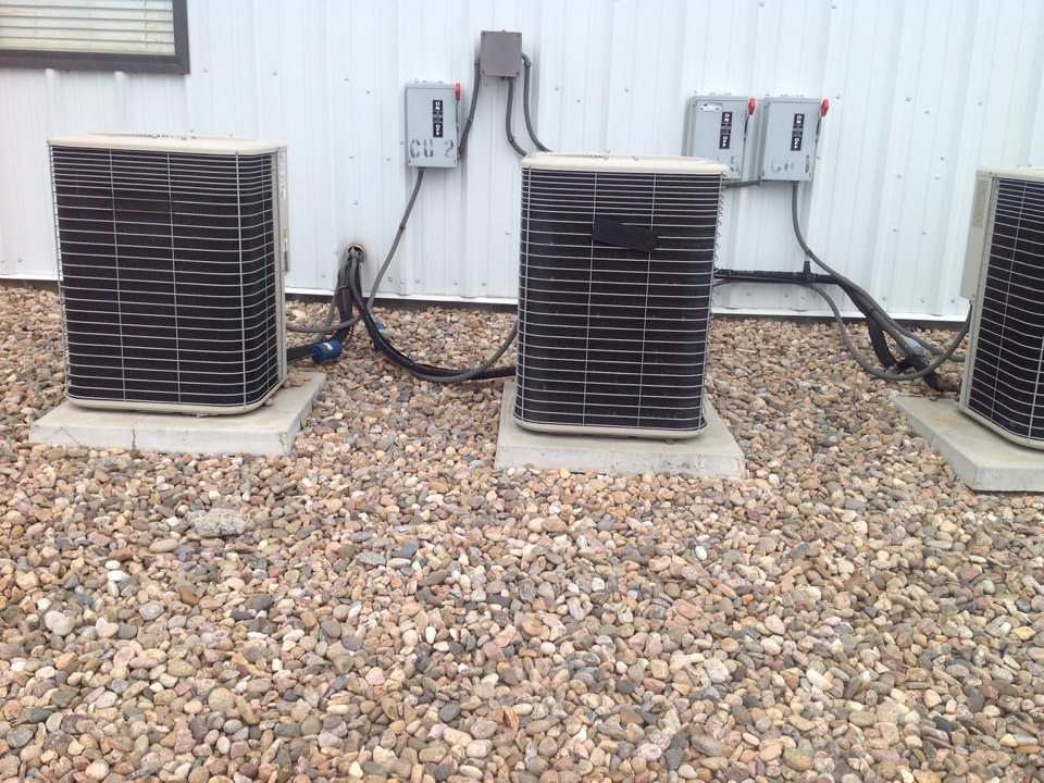 Englewood, CO - Check out two noisy ac units.      Both need compressors