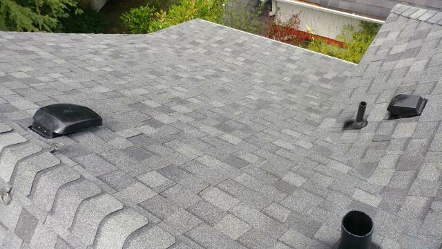 Covington, WA - Finished a roof replacement with Certainteed Landmark Granite Grey shingles.