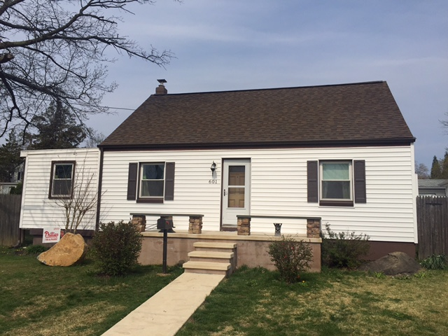 New roof and siding to update the outside of this home!