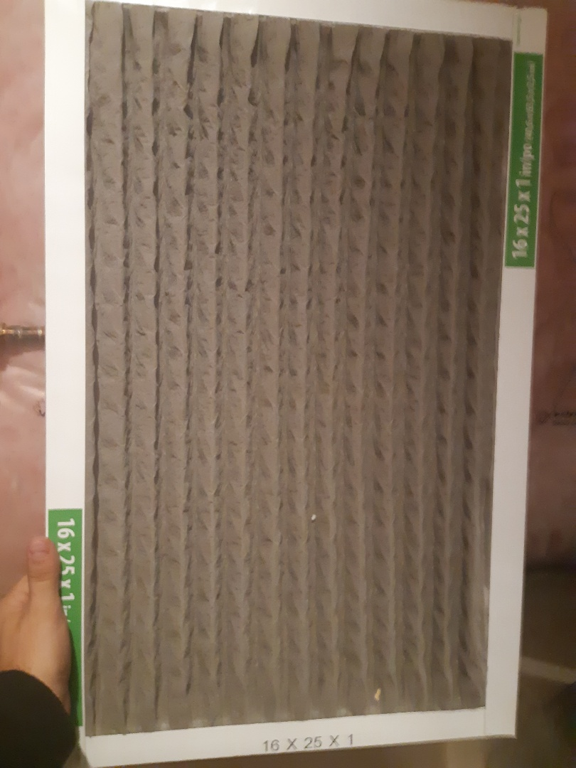 Brampton, ON - It is recamended to use a bigger furnace filter 4 to 5 inch thick. It will let more air flow to the furnace and you dont have to chage them as often. The one inch filters get clogged up much sooner