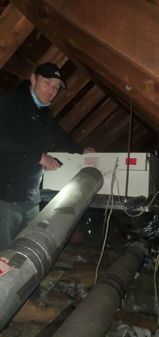 Old Toronto, ON - AC tuneup in an attic in toronto with Tom