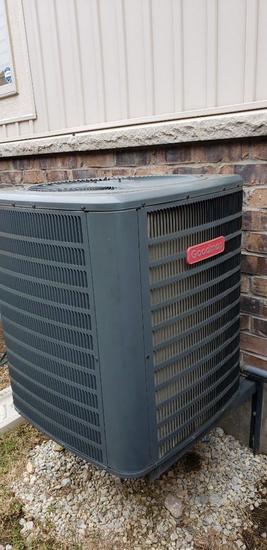Yearly maintenance on a Goodman 3.5 ton air conditioner