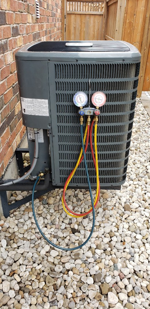 Performing yearly maintenance on a Goodman 2.5 ton air conditioner