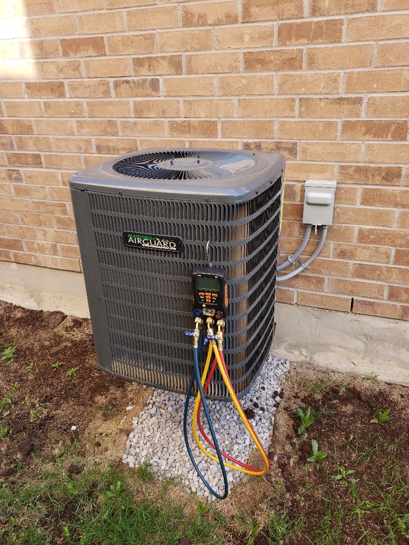 Vaughan, ON - AC maintenance on Goodman unit in Kleinburg