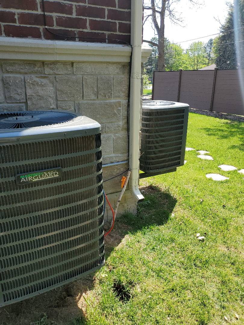 Two AC tune ups on a Martino Airguard AC, located in Markham