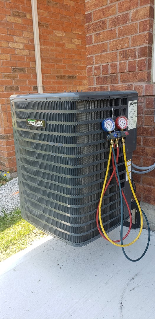 Brampton, ON - Yearly maintenance on a Goodman 3 ton a/c in Brampton.  Also replacing filters for whole home hepa system.