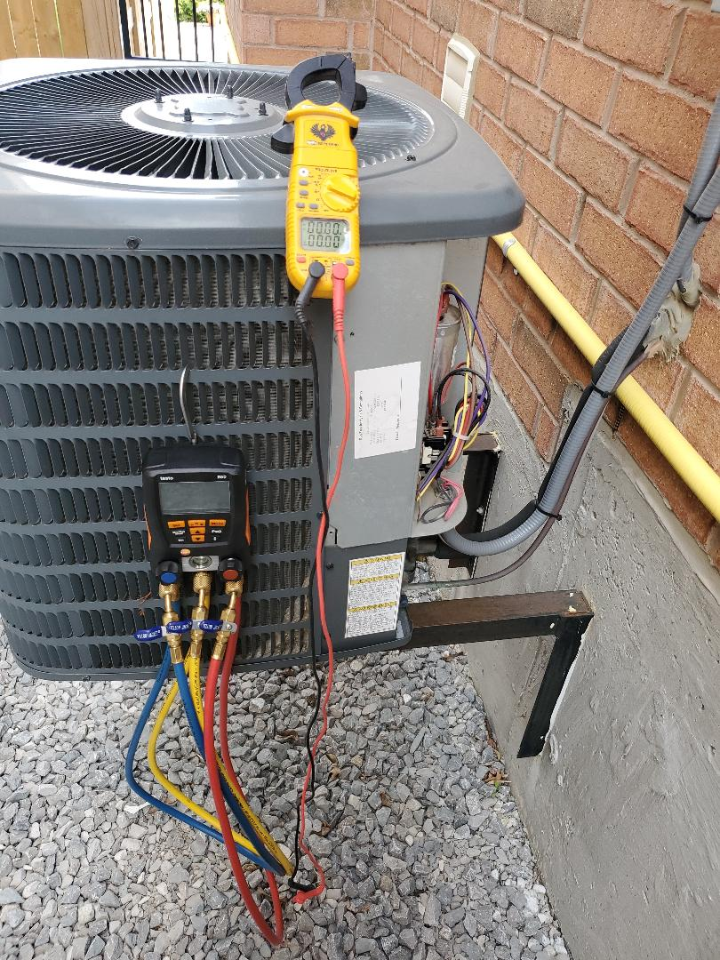 AC tuneup on a Goodman out in Bradford. Cleaned Evaporator Coil as well.