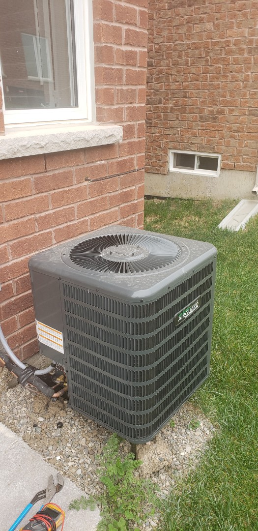 Completed diagnostic on a Goodman 1.5 ton air conditioner in Milton. Working properly now.