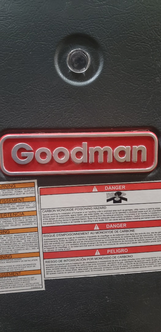 Performing yearly maintenance on a Goodman furnace in Milton