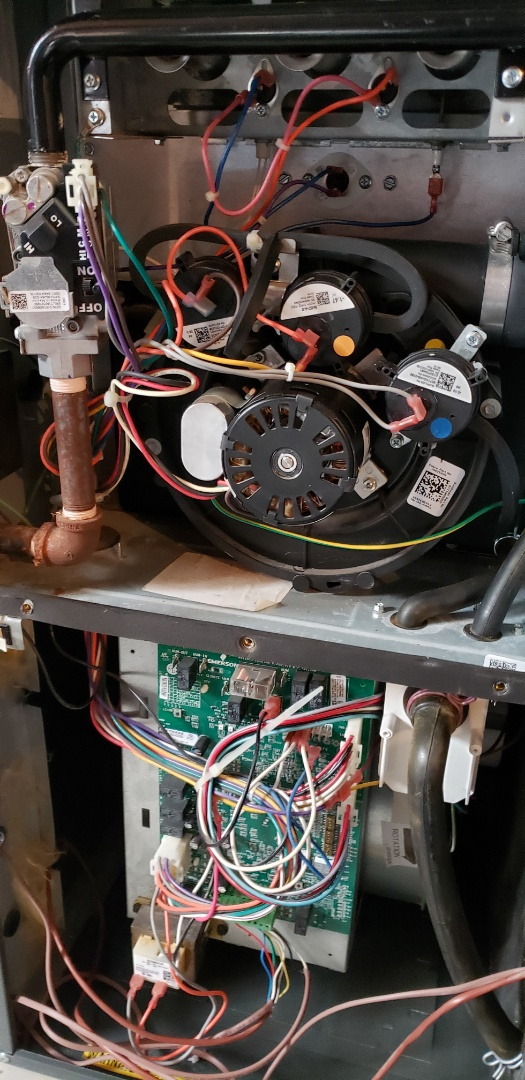 Performing yearly maintenance on a York furnace in Woodbridge