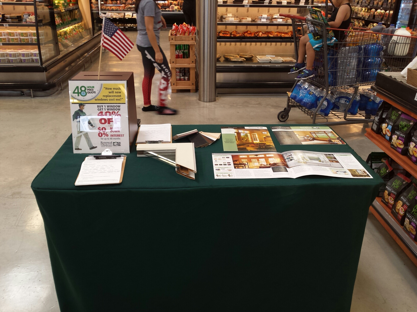 Spring, TX - RBA is promoting windows at HEB Steubner Airline and Louetta.