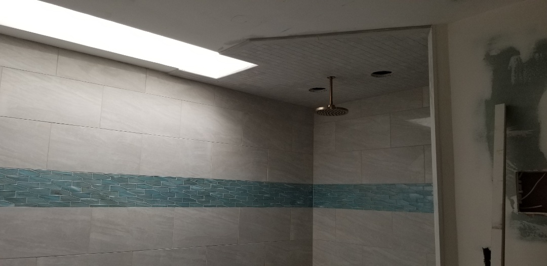 Cherry Hill, NJ - Bathroom project tile all done