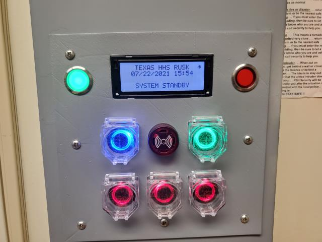 Rusk, TX - New alarm panel for the campus warning siren. Modern electronics t replace the ancient panel from the 70s.