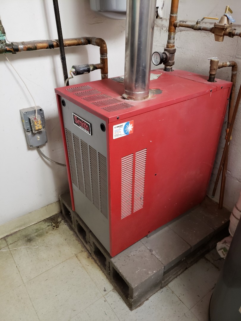 Dryden, NY - Planned maintenance on gas fired Smith boiler. Test safeties and.