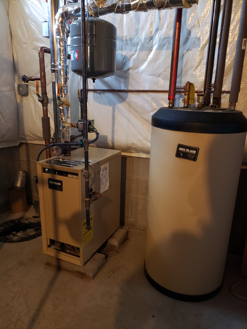 Ithaca, NY - Planned maintenance on Weil McClain Gold gas fired boiler. Test safeties and combustion.