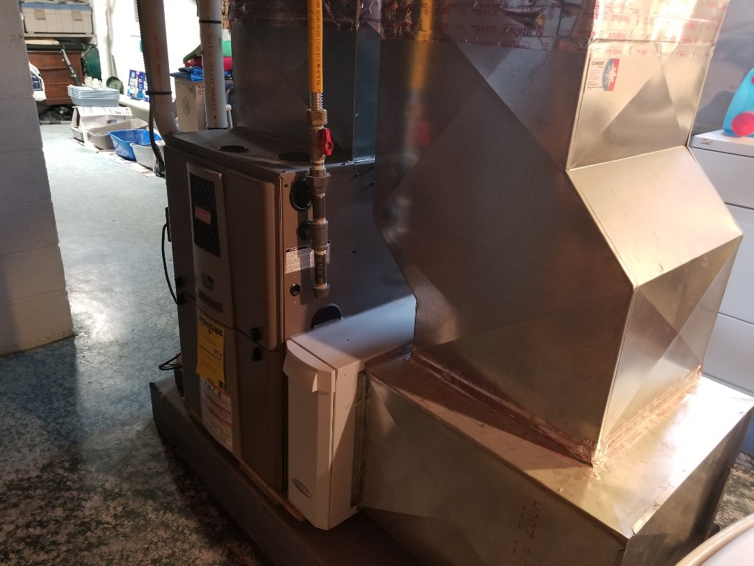 Cortland, NY - Planned maintenance on Comfort Technology installed gas fired, modulating, high efficiency furnace. Test safeties and combustion.
