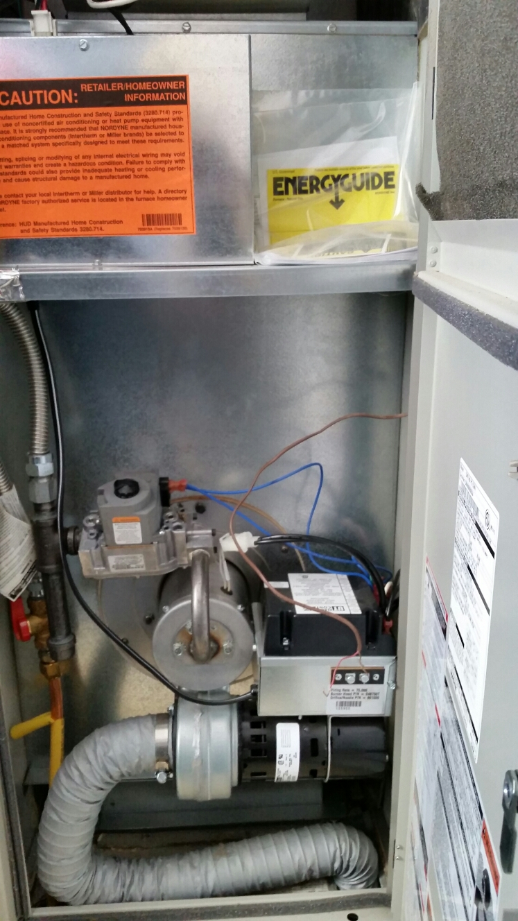 Newfield, NY - Heating service on Miller mobile home propane furnace