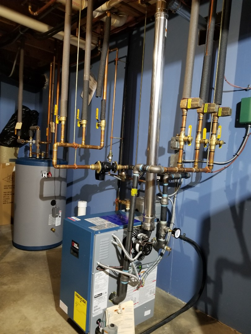 Dryden, NY - Planned maintenance on Comfort Technology installed gas fired Utica boiler. Test safeties and combustion.