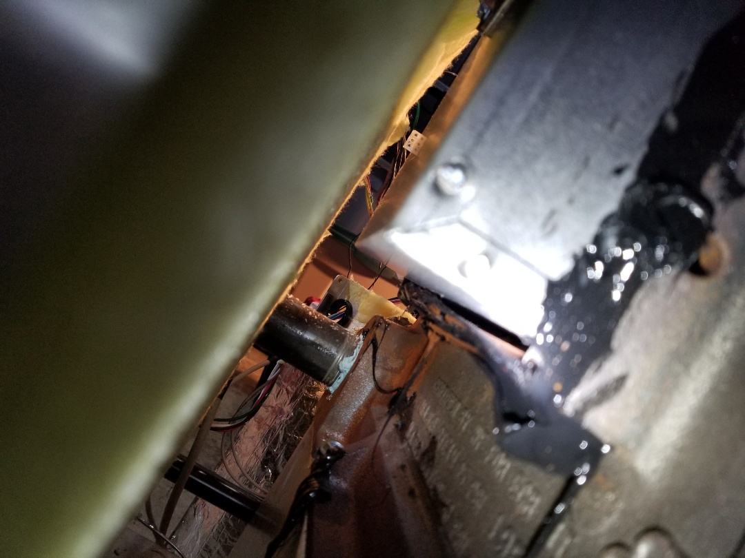 Dryden, NY - Found section of gas fired boiler unsealed after failed combustion testing.