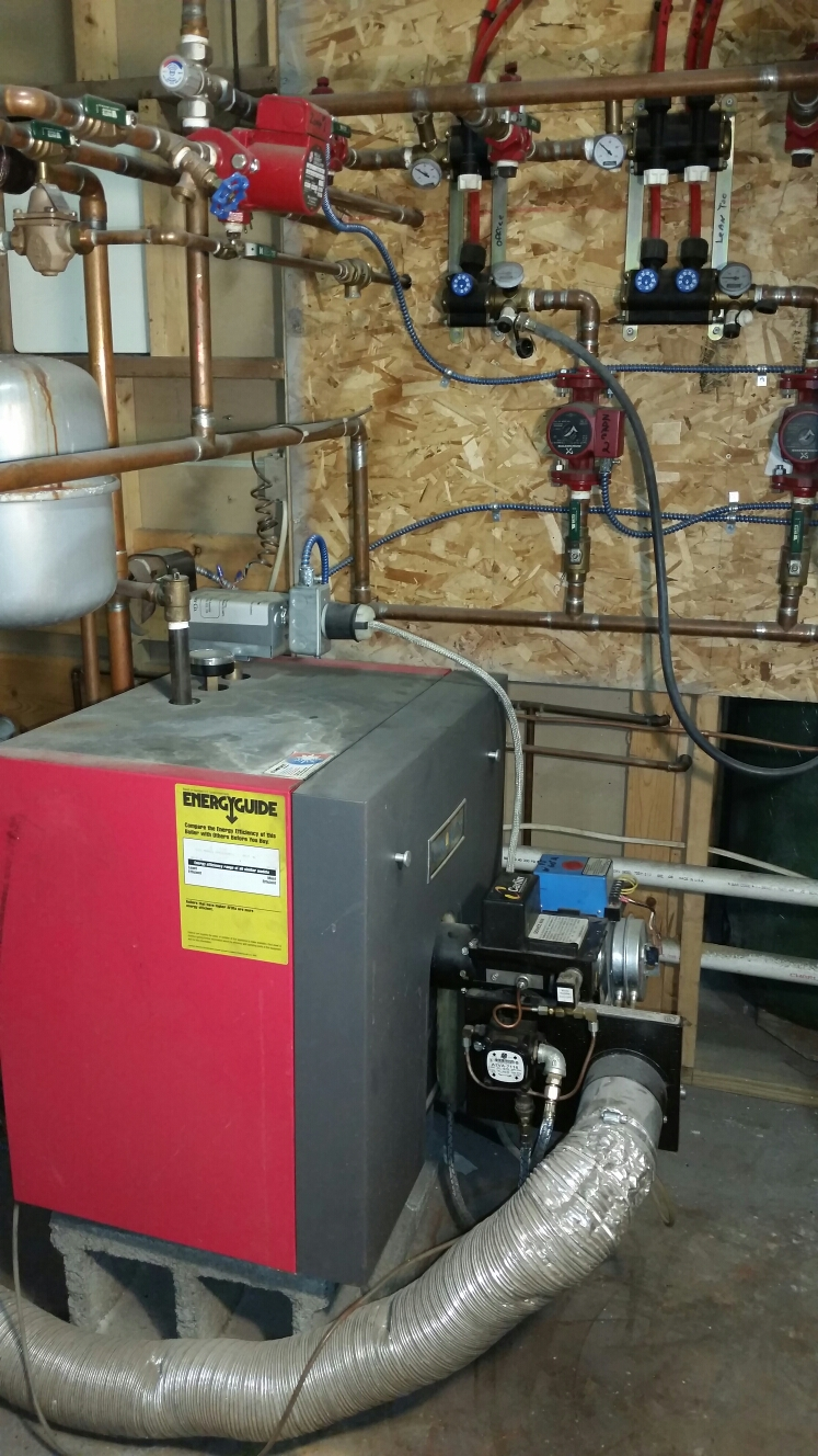 Homer, NY - Planned maintenance on oil fired direct vent Crown boiler.