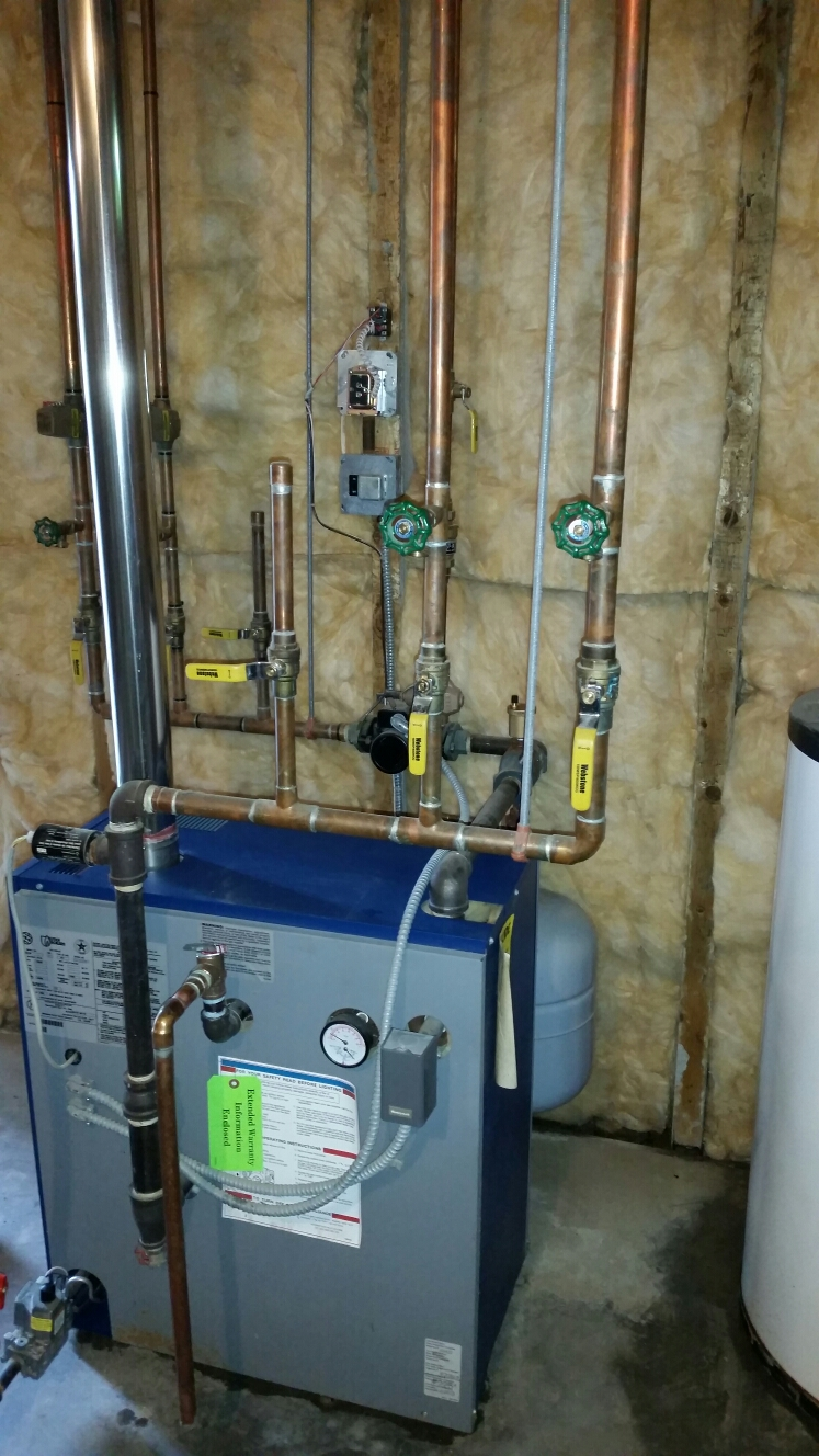 Lansing, NY - Planned maintenance on gas Utica hot water boiler.