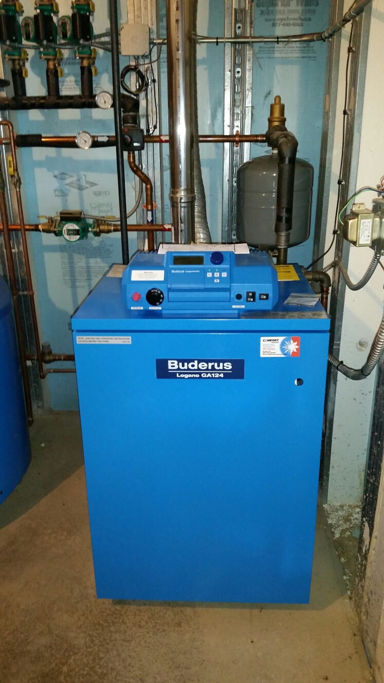 Moravia, NY - Tune gas fired Buderus boiler.
