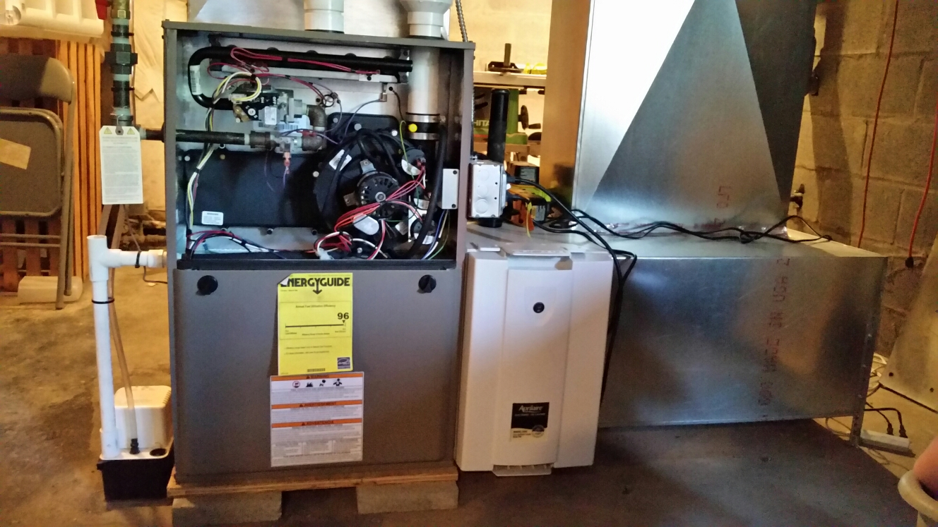Berkshire, NY - Planned maintenance on Comfort Technology installed high efficiency gas fired Coleman furnace with Aprilaire 5000 air cleaner and Apco UV system.
