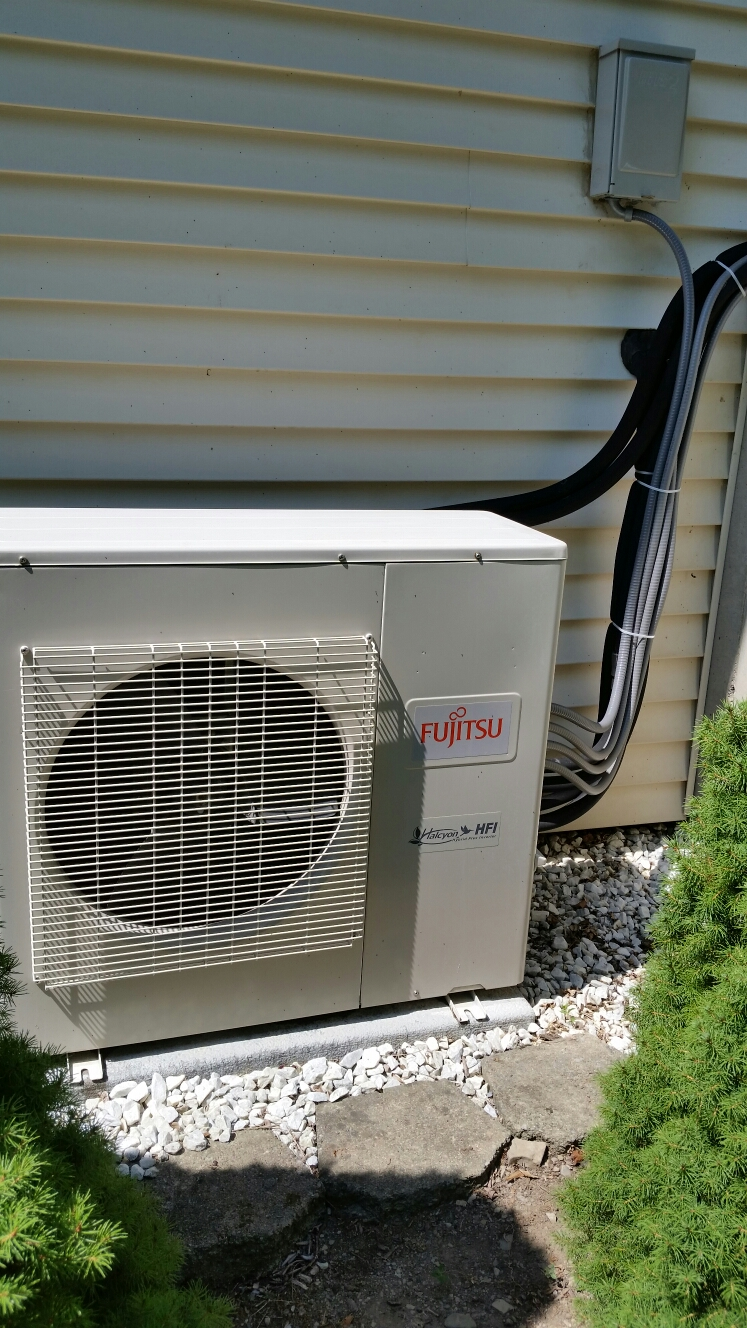 Lansing, NY - Planned maintenance on Comfort Technology installed Fujitsu mini split AC system.