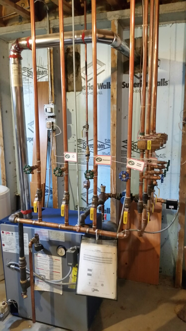 Homer, NY - Planned maintenance on Comfort Technology installed gas fired Utica boiler. Test safeties and combustion.