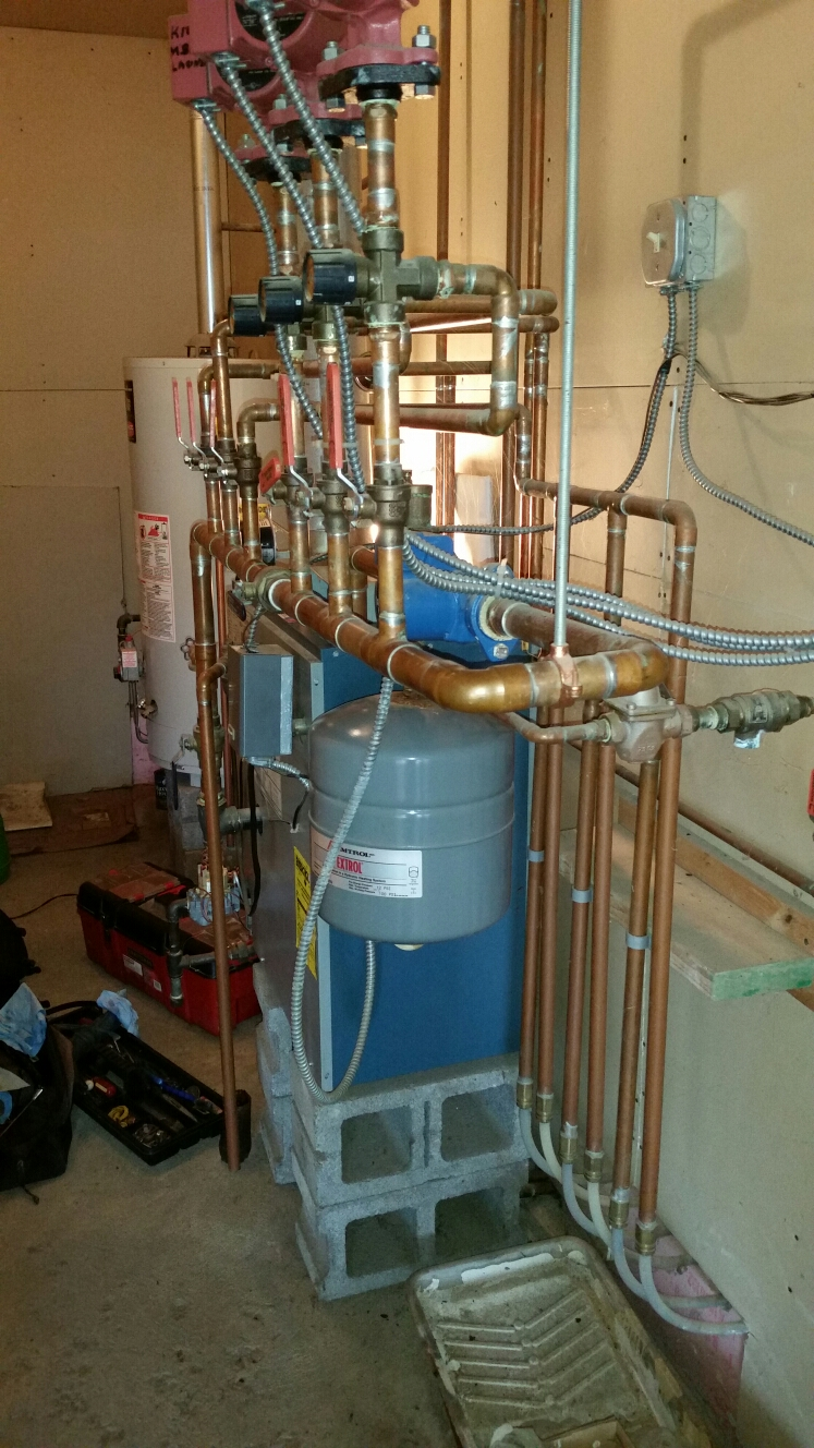 Dryden, NY - Scheduled maintenance on Utica gas fired boiler with radiant in floor heat. Test safeties and combustion.