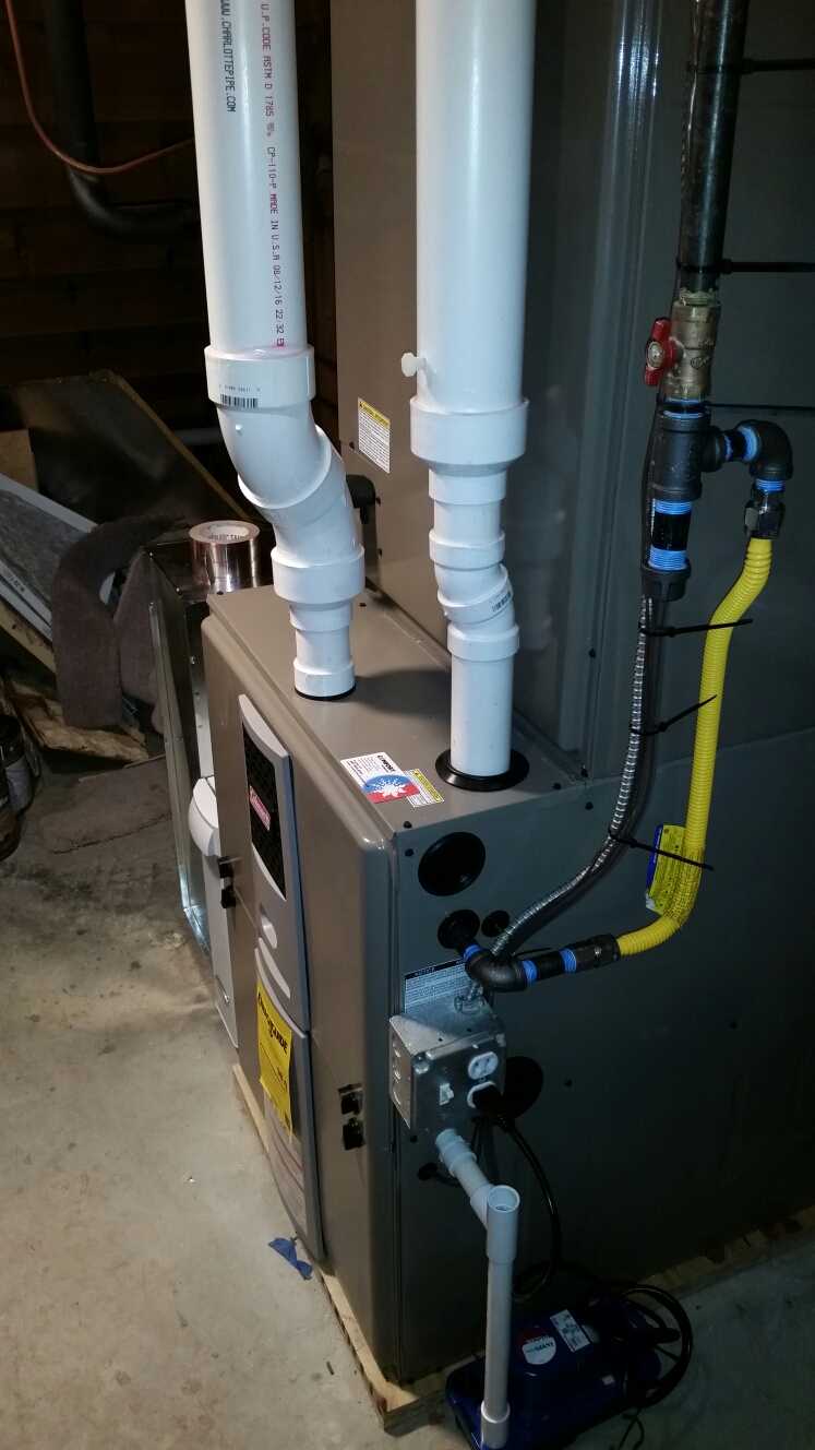 Ithaca, NY - Startup of Comfort Technology installed high effecient, modulating, gas fired Coleman furnace with Aprilaire high efficiency air filter.