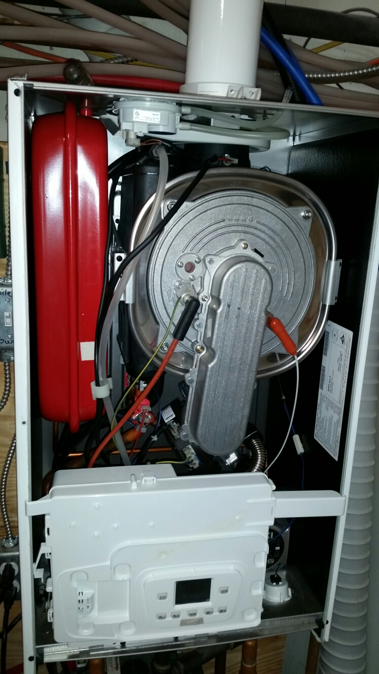 Lansing, NY - Planned maintenance on gas fired Baxi Luna duo boiler. Test safeties and combustion.